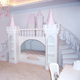 maxtrix - Castle Bed Light Pink And White