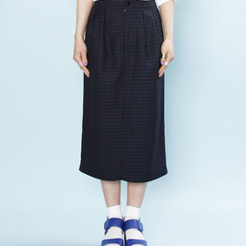 OKIRAKU - pencil skirt / dark navy