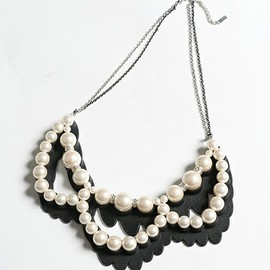 ANREALAGE - SS2015 SHADOW PEARL NECKLACE(TRIPLE)