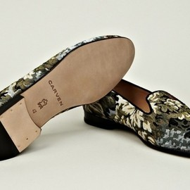 Carven - tapestry loafer