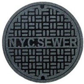 Perpetual Kid - Sewer Cover Throw Rugs