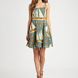 Ralph Lauren Blue Label - Printed Cotton/Linen Daria Dress
