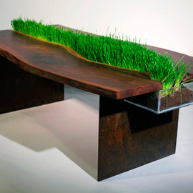 Emily Wettstein - Organic table with grass