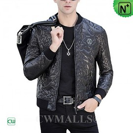 CWMALLS - CWMALLS® Moscow Mens Embroidered Leather Jacket CW808036 [2018 FIFA World Cup Series, Custom Made]