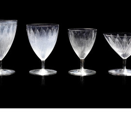 LALIQUE - René Lalique (1860-1945) 'Lotus' a Set of Drinking Glasses, design 1924