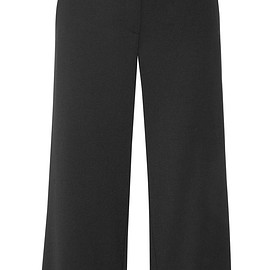 Alexander Wang - Embellished cropped twill wide-leg pants