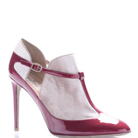 VALENTINO - Scarlet Leather And Velvet Mary Jane