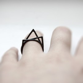 RESERVED for nicolavicius Thorn . oxidized sterling silver ring