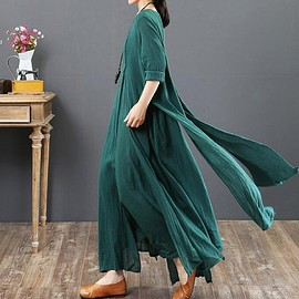 dress - Green maxi dress, Plus size dress, women dress, floor length dress, Wedding dress, prom dress