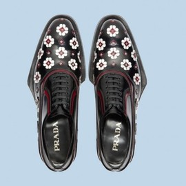 PRADA - prada mens flower and rubber lace up shoes fall 2012