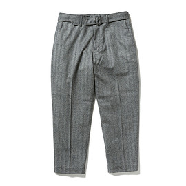 HEAD PORTER PLUS - BELTED PANTS GREY