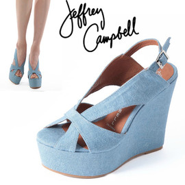 JEFFREY CAMPBELL - Denim Fabric ウエッジ