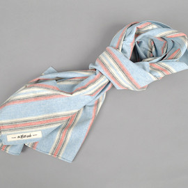 The Hill-Side - Slub Poplin Irregular Stripe Scarf