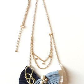 Cotton Ribbon Bow Necklace