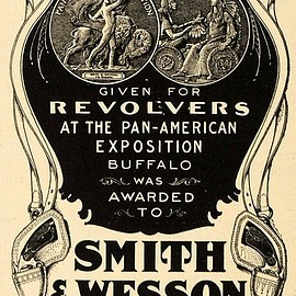 Smith & Wesson ad citing their medal winning at the 1901 Pan American Exposition