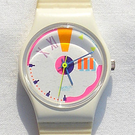 Vintage Swatch Dotted Swiss Watch