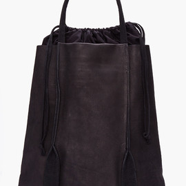 SILENT DAMIR DOMA - Black Leather Bagrus Tote