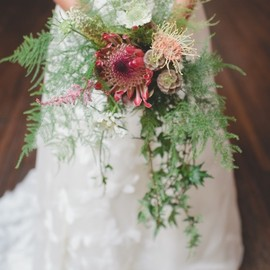 wedding - protea wedding bouquet!