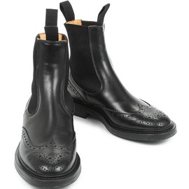 Tricker's - M2754 side Gore boots Henry black calf