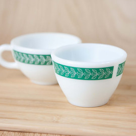 Corning - Vintage Fern Green Pattern Cup of Soup bowl