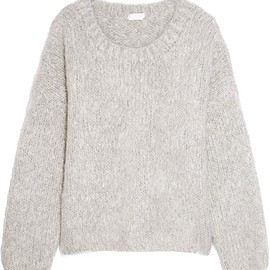Chloé - Oversized mohair, wool and cashmere-blend sweater