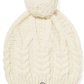 Moncler - Pompom-embellished cable-knit beanie