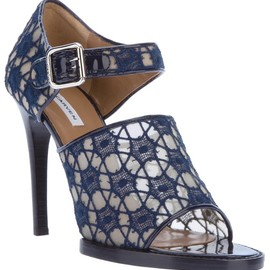 CARVEN - lace and patent sandal