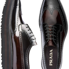 PRADA - WING-TIP SHOES