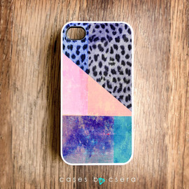 casesbycsera - Unique iPhone Case, Ombre iPhone 4 Case, Neon iPhone 4S Case, Snap on Case, Cell Phone Case Hard iPhone Case, Limited Edition Design Case
