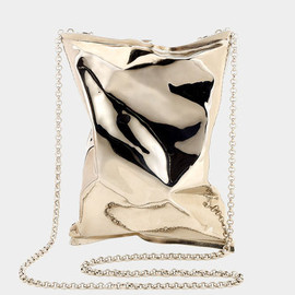 ANYA HINDMARCH - Crisp Packet clutch -Metal in Pale Gold