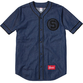Supreme - Baseball Shirt - Denim