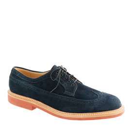 ALDEN - Limited-edition Alden® for J.Crew longwing bluchers in navy suede