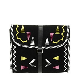 ASOS Collection - Image 1 of ASOS Leather Aztec Clutch Bag