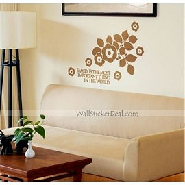 wallstickerdeal.com - Family Is The Most Important Thing Flower Wall Sticker