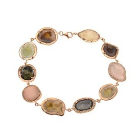 KIMBERLY MCDONALD - 18k rose gold baby geode bracelet