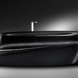 Carbon Fiber Bathtub For The Strong Hearted by Corcel