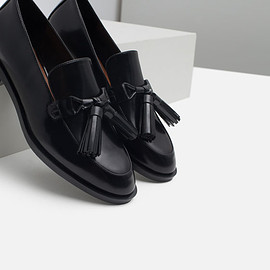 ZARA - LEATHER LOAFERS WITH TASSELS