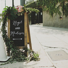 Green Wedding Shoes - chalkboard sign