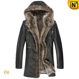 CWMALLS - Sheepskin Leather Coat for Men CW877158