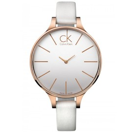 Calvin Klein - White & Rose Glow Ladies Watch