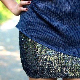 Sweaters + sequins.