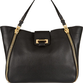 TOM FORD - Sedgwick medium textured-leather tote