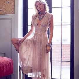 Free People - Free People My Antonia Plunge Maxi Dress