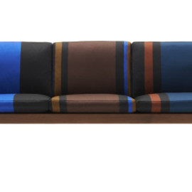 Paul Smith, Carl Hansen & Søn, Maharam - CH163 Sofa – Big Stripe – Cobalt