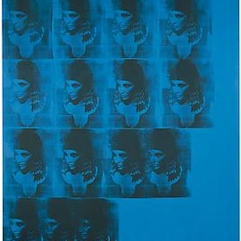 ANDY WARHOL - Blue Liz as Cleopatra, 1962Acrylic, silkscreen ink, and pencil on linen82 1/2 x 65 inches  (209.6 x 165.1 cm)Daros Collection, Switzerland© 2011 Andy Warhol Foundation for the Visual