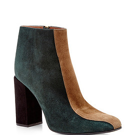 MARNI - Teal and Beige Striped Goat Leather Boots