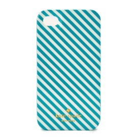 kate spade NEW YORK - resin iphone case diagonal stripe / blue