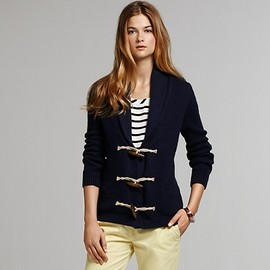 TOMMY HILFIGER - Sweater Duffle Jacket With Shawl Collar