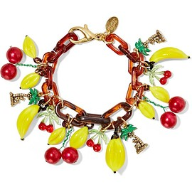 Erickson Beamon - Copacabana gold-plated, enamel  and acrylic bracelet
