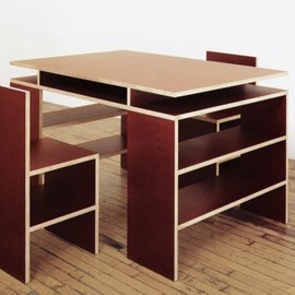 Donald Judd - Schellmann: Desk And Two Chairs